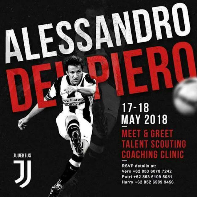 Del Piero Mencari Pesepakbola Berbakat dari Sumatera Utara