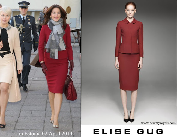 Crown Princess Mary wore ELISE GUG Skirtsuit from AW2013 Collection