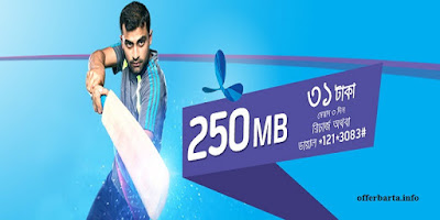 Grameenphone 250MB Internet 31 TK
