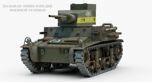 Легкий американский танк Light Tank M2