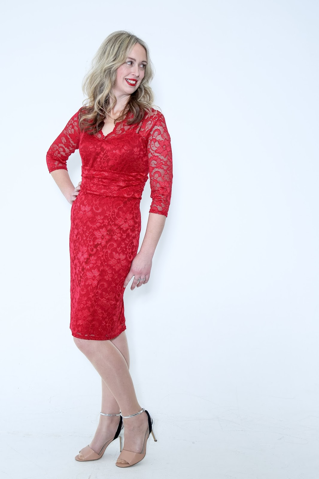 The Red Christmas Dress For A Photo Shoot With Marisota