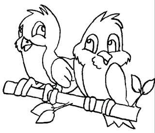 Cute Couple Hummingbird Coloring Pages