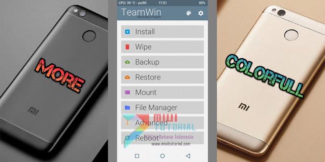 Bosan dengan Tampilan TWRP Recovery Xiaomi Redmi 4X yang Monoton? Coba TWRP Mod Colorfull Berikut Ini