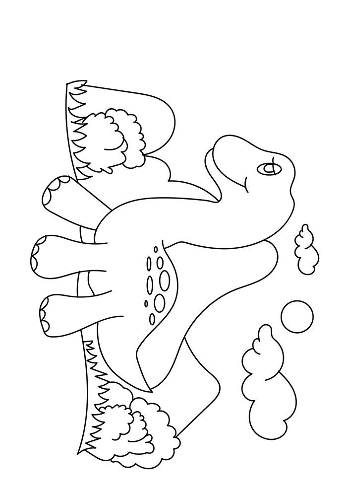 Dibujos de Bebé Dinosaurio Caminando para Colorear, Pintar e ...