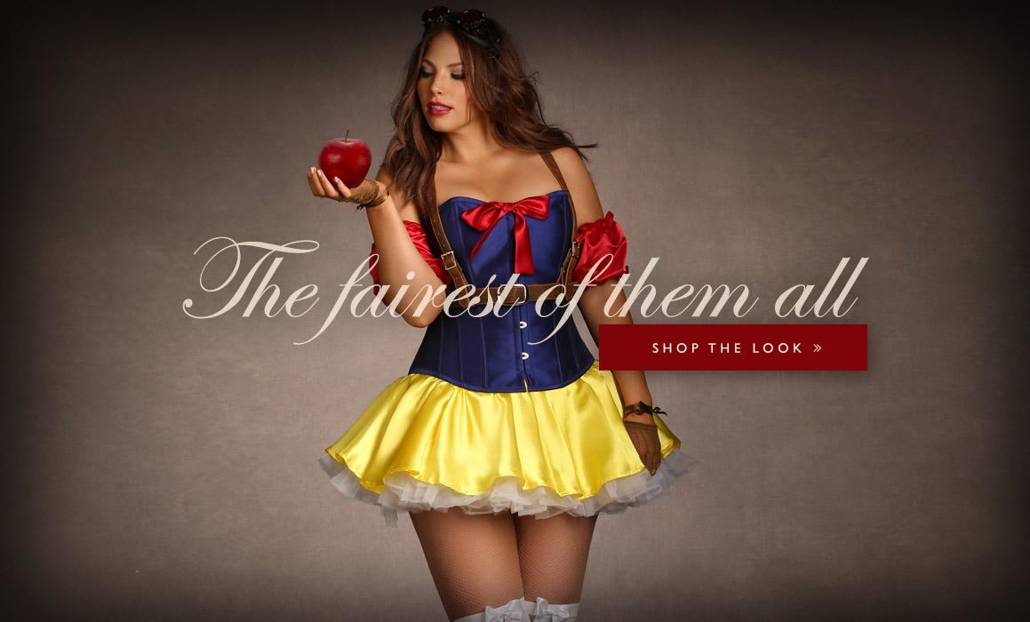 Sexy plus size snow white costume