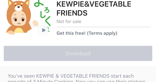 Free-KEWPIE&VEGETABLE FRIENDS sticker