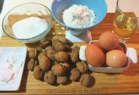 Bizcocho nueces intolerantes lactosa receta ingredientes