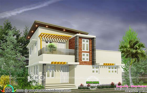 Modern house architecture rendering