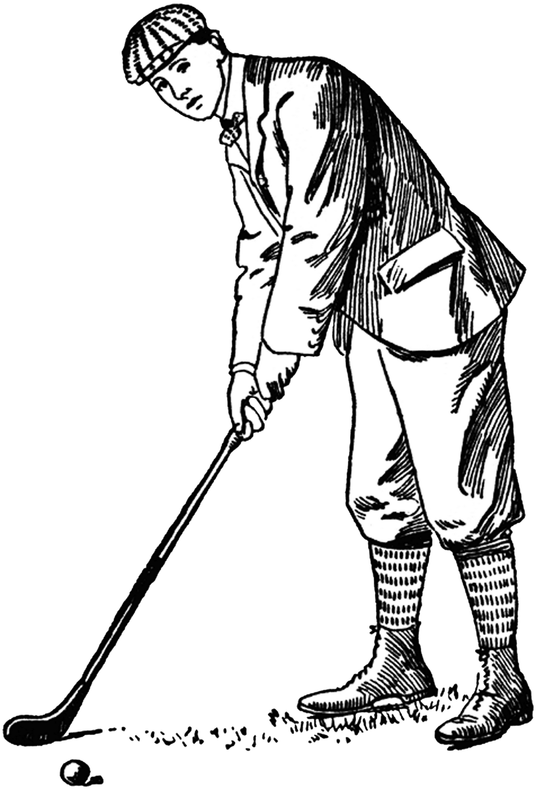 free vintage golf clip art - photo #34