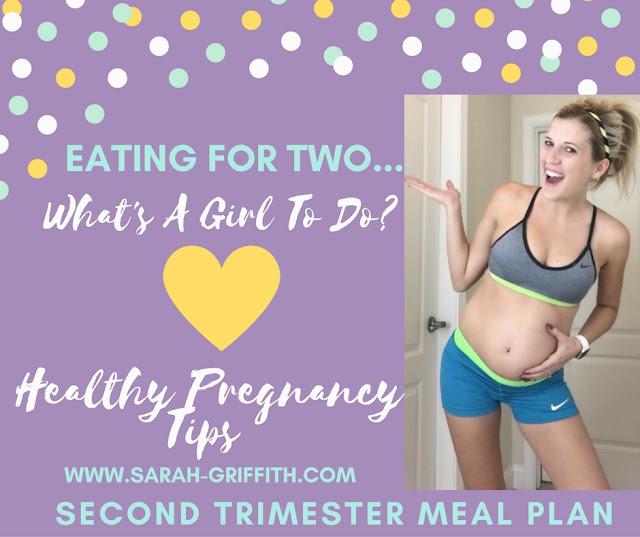 healthy pregnancy, second trimester, second trimester meal plans, fit pregnancy, fit momma, sarah griffith, top beachbody coach,