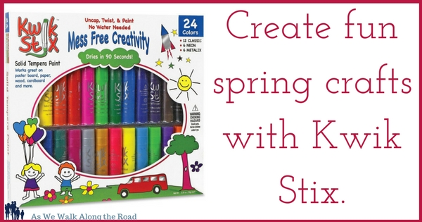 Spring crafts with kwik stix