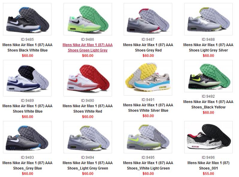 all nike air max shoes list