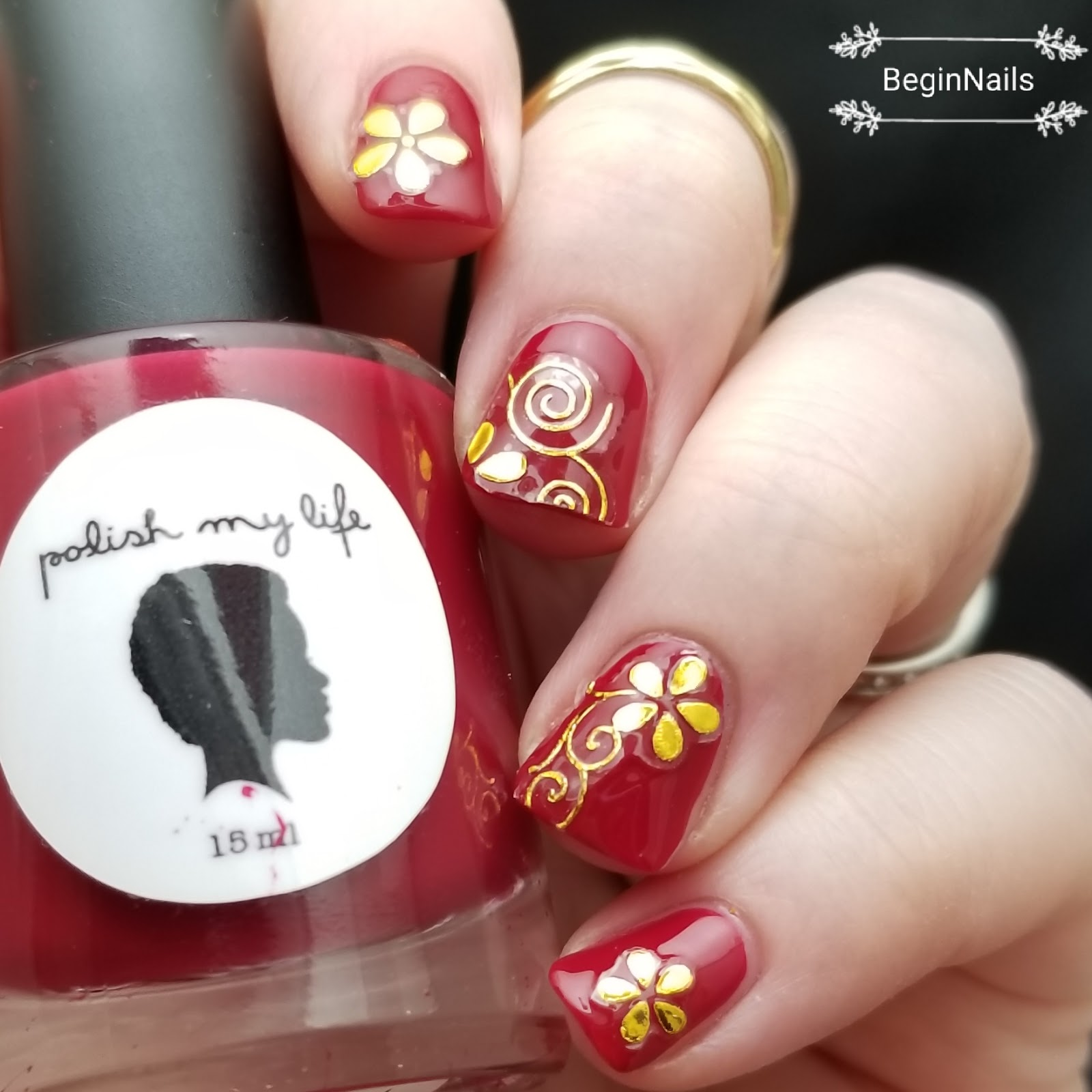Let\'s Begin Nails: Beauty BigBang: Gold Nail Stickers