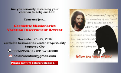 Carmelite Missionaries     Center of Spirituality