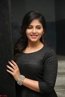Anjali in Black Short Dress at Chitrangada Movie Success Meet ~  022.JPG