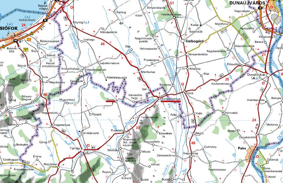 simontornya térkép MAGYAR BARANGOLÓ: Simontornya és Ozora simontornya térkép