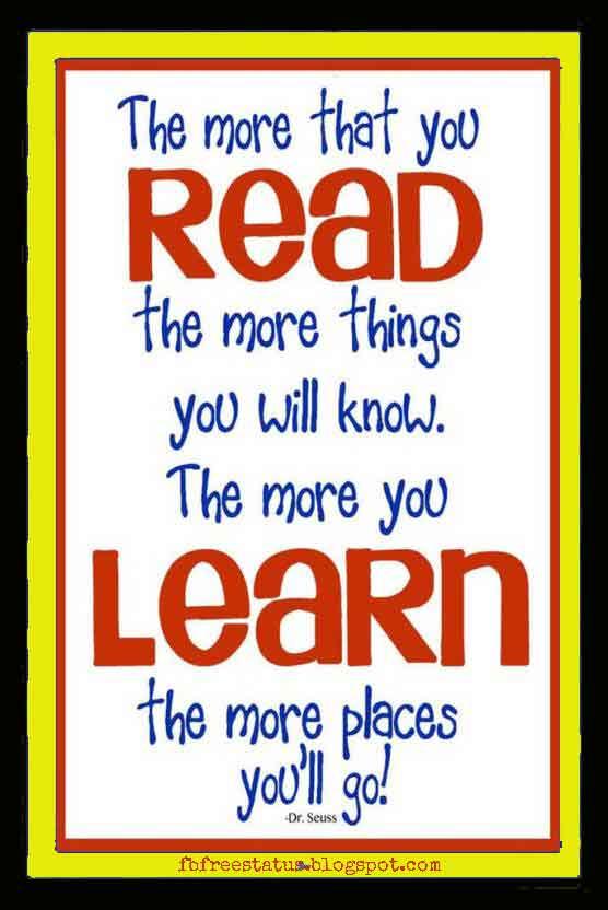 Dr Seuss Reading Quotes