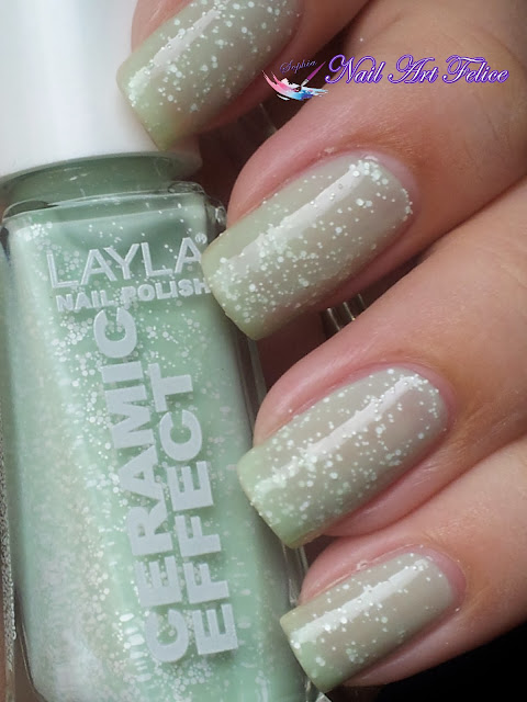 CE105 Mint Dynasty - Ceramic Sorbet Effect Layla - Swatch03 - Nail Art Felice