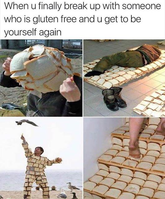 Funny Gluten Free Breakup meme picture