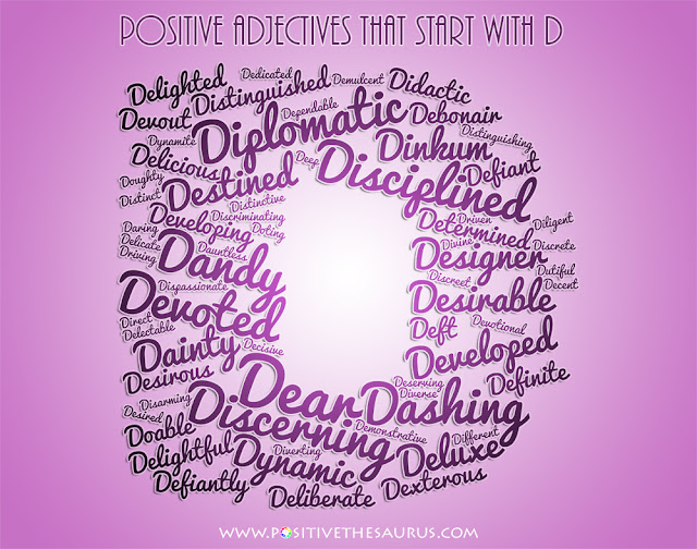 Adjective Starts With The Letter D