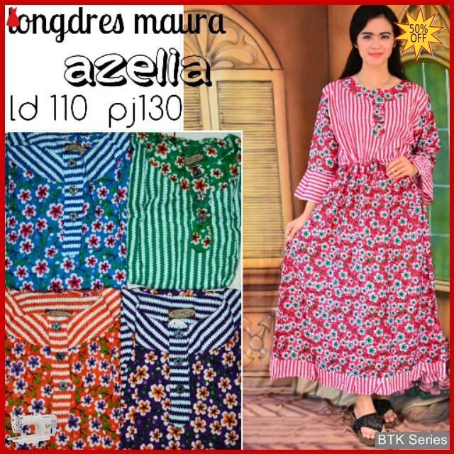 BTK039 Baju Longdress Azelia Daster Baju Murah Murah BMGShop