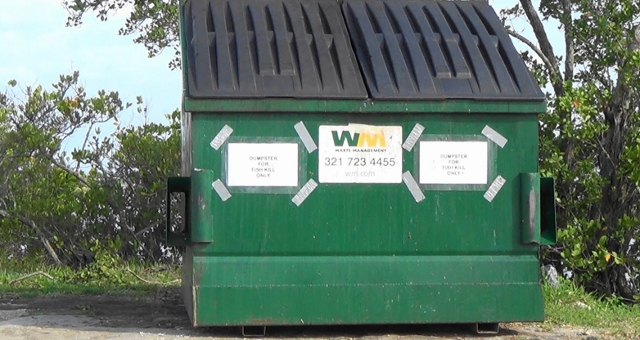 Brevard County Fish Kill Dumpster