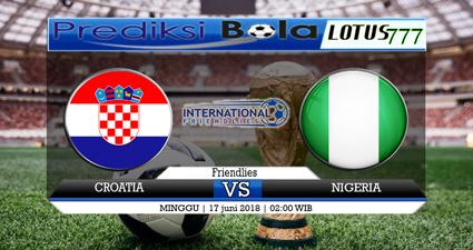 Pada 17 Juni 2018 mendatang akan diselenggarakan pertandingan Piala Dunia pada antara Kroasia Vs Nigeria pada pukul 02:00 WIB di Kaliningrad Stadium.
