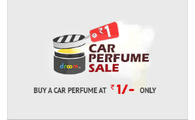 Droom Car Perfume For Rs 1 (Mrp 249) Free Ship Sale date 12 September deal by rainingdeal.in