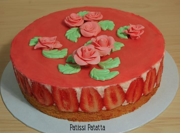 cake design, gâteau 3D, pâte à sucre, gumpaste, fondant, strawberry cake