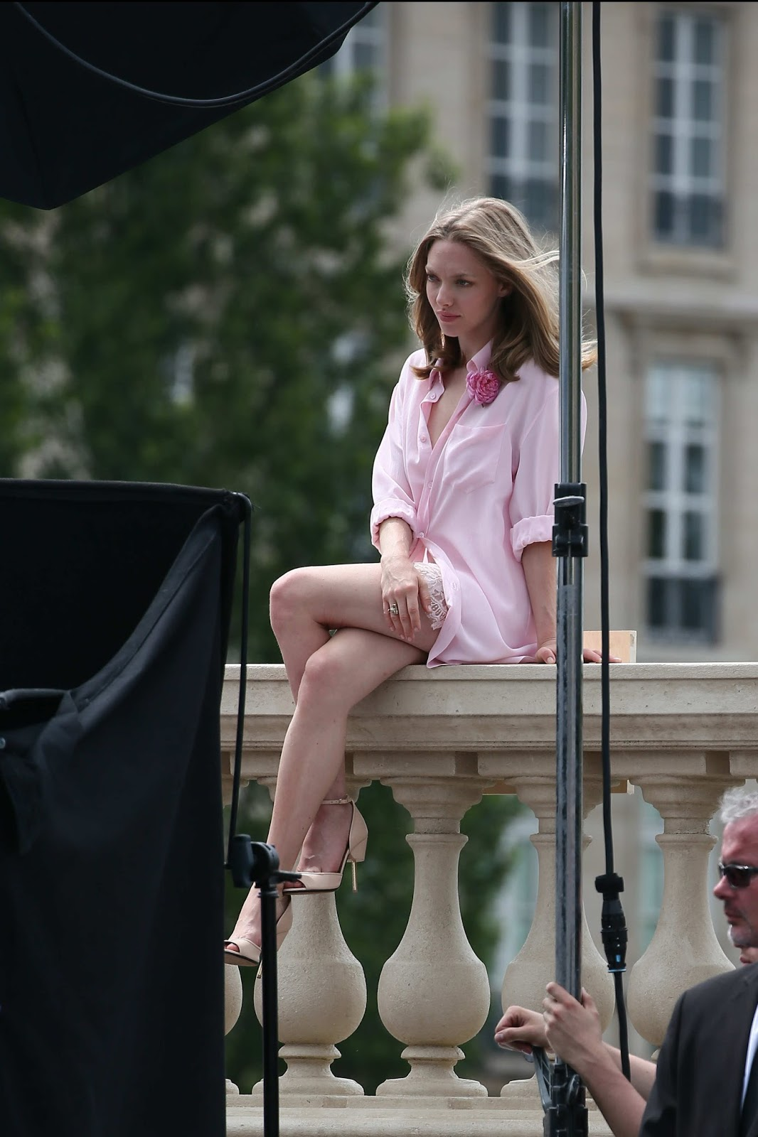 Amanda Seyfried - on the set of a Photoshoot in Paris, June 22, 2016 ...