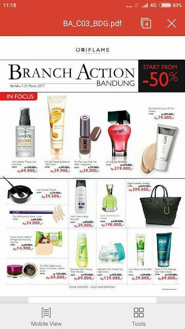 Branch Action Oriflame Indonesia Maret 2017