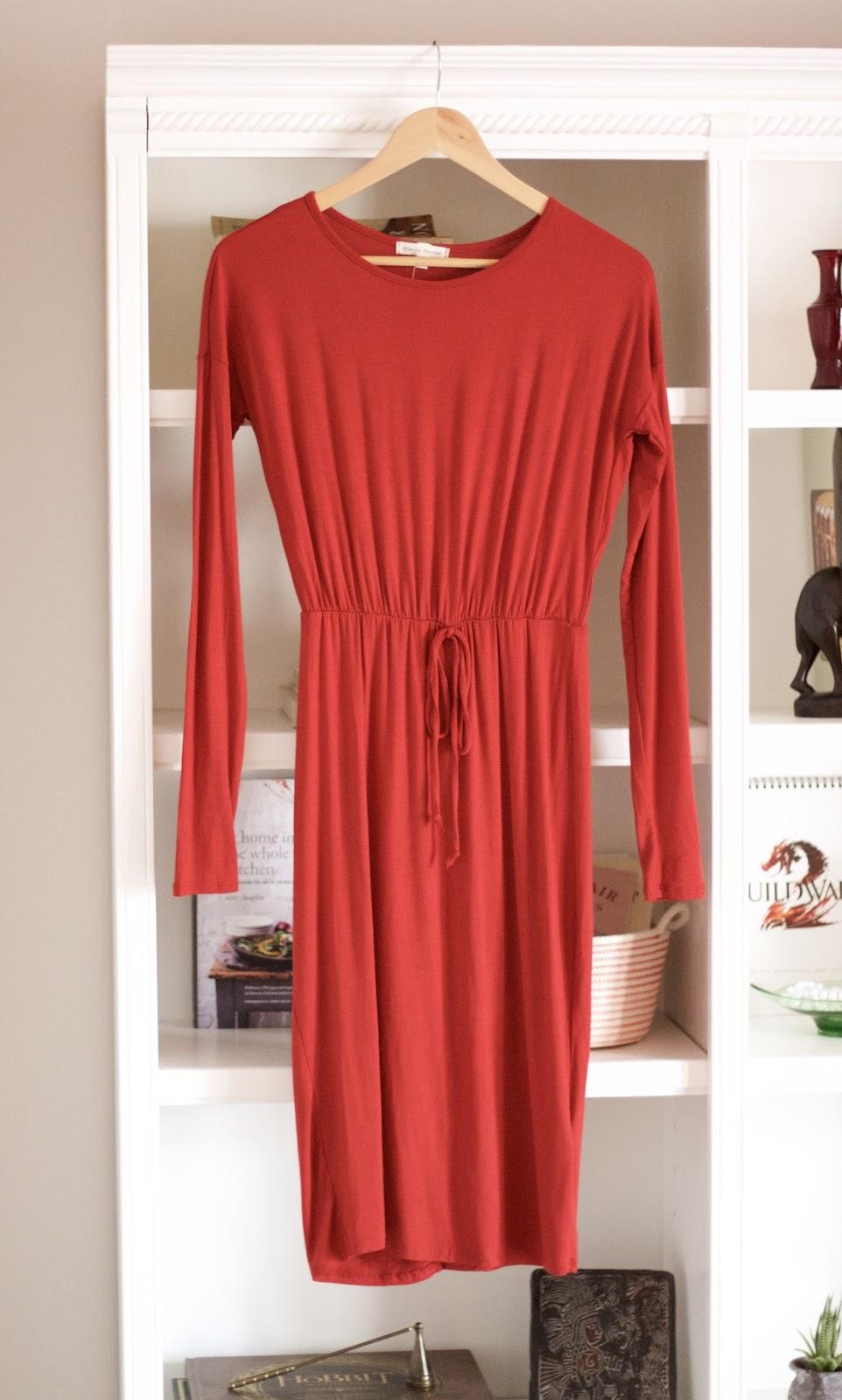 Stevie Hender Red Long Sleeve Dress