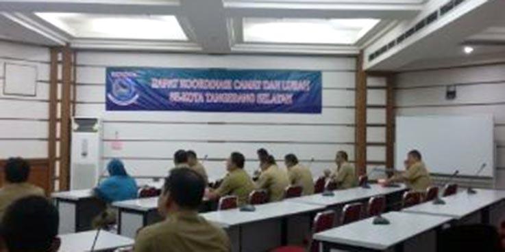 Rapat Koordinasi Camat dan Lurah Kota Tangerang Selatan.
