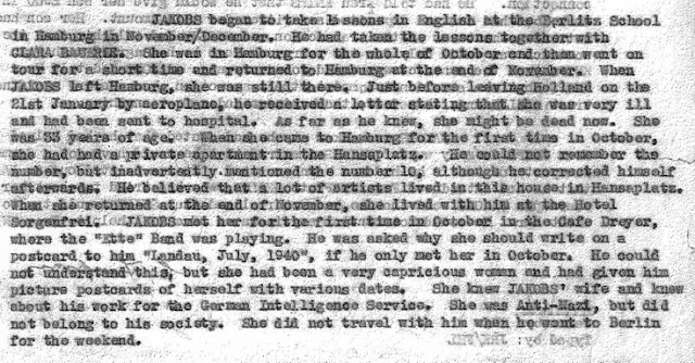 April 25, 1941 - KV 2/25 - 68a - MI5 Interrogation summary of Josef Jakobs by Lt. Sampson.