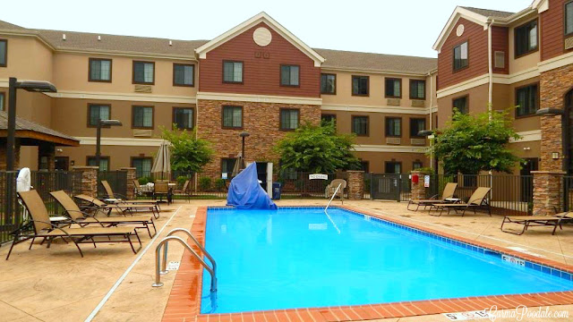 Pool with handicap chair at the StayBridge Suites, Bowling Green Ky-CarmaPoodale