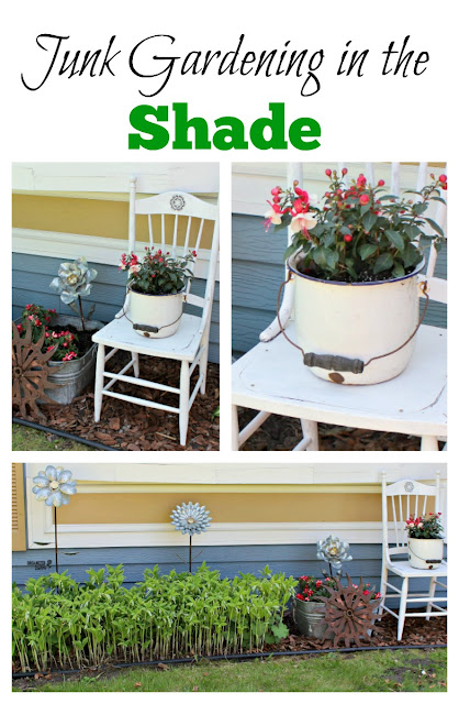 Perennials & Annuals for a Shady Junk Garden Vignette