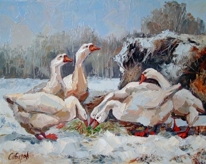 Я люблю рисовать пейзажи и животных. Руслан Сабиров