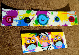 Owl stickers duct tape bookmarks