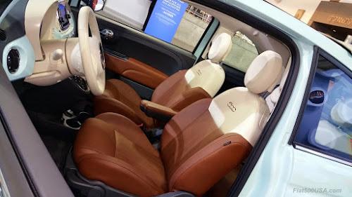 Fiat 500 Lounge Cabrio Interior