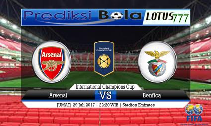 Prediksi Pertandingan antara Arsenal vs Benfica Tanggal 29 Juli 2017