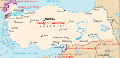 Lozan Barış Antlaşması Türkiye haritası