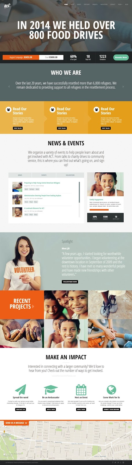 Premium Nonprofit Charity WordPress Theme 2015