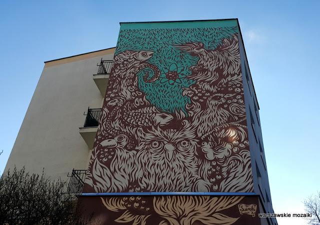 Śródmieście warszawskie murale Warsaw Nowolipki Muranów