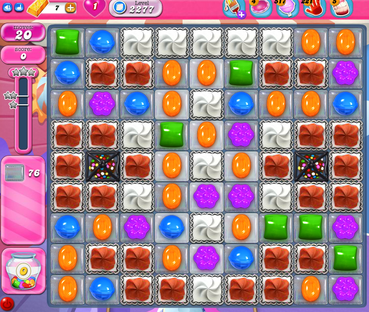 Candy Crush Saga level 2277