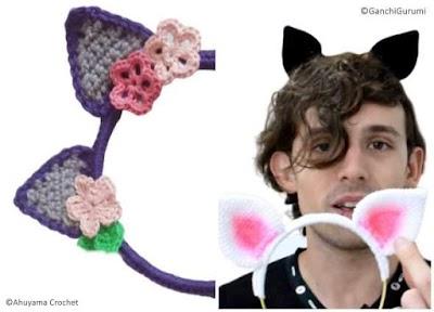Diademas a crochet orejas gato infantiles tutoriales