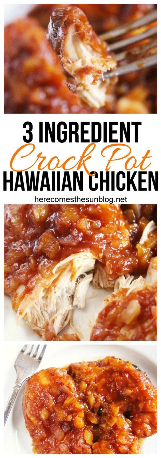 CROCK POT HAWAIIAN CHICKEN #crockpot #hawaiian #chicken #chickenrecipes #tasty #tastyrecipes #delicious #deliciousrecipes
