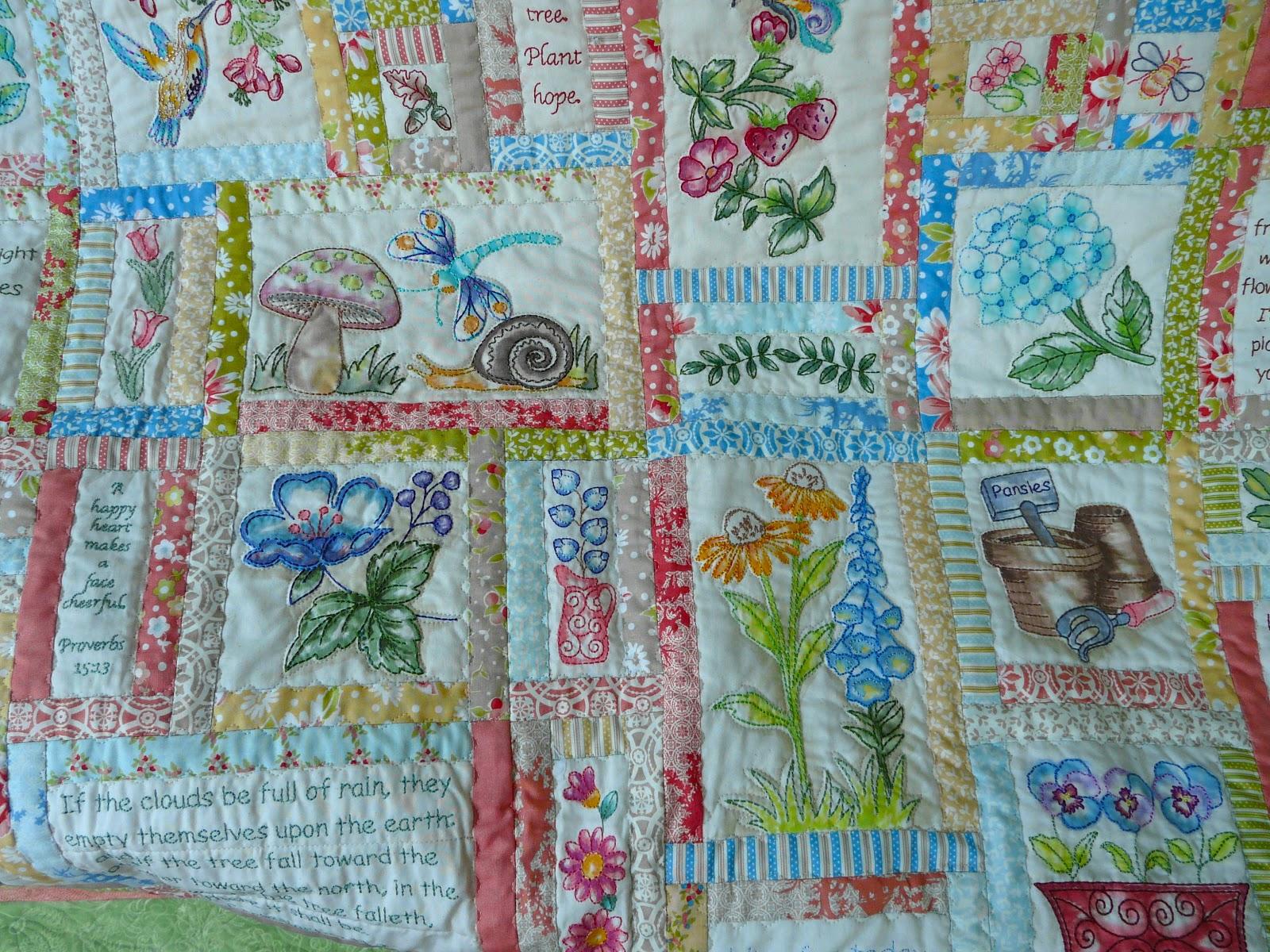 Quilt By Anita Goodesign Prayer Garden Gardening Flower And