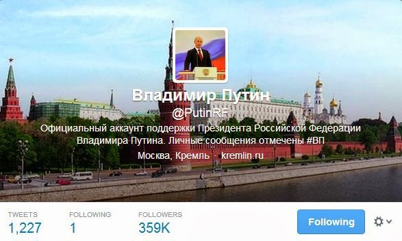 Putin Russian Twitter Account Profile