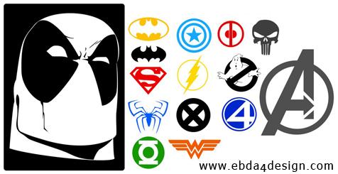 تحميل أشكال أبطال هوليوود للفوتوشوب مجاناً, Photoshop  Shapes free Download, Hollywood Heroes Ps shapes download,