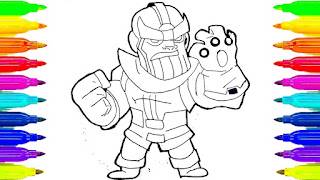 Infinity War Thanos Coloring Pages For Kids
